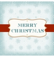 Template old Christmas card vector image