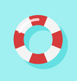 top view of swim tube on water for summer icon vector image
