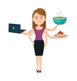 very busy person character vector image