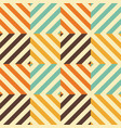 vintage seamless pattern with rhombus and vector image