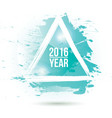 Watercolor-blue-year vector image