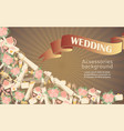 wedding accessories poster with text bridal vector image
