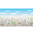 3d city map vector image