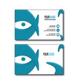 blue eye bussines card vector image