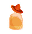 5 may tequila bottle with hat vector image