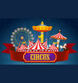a circus banner on sky vector image vector image