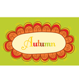 Abstract frame for your text Autumnal theme header vector image vector image