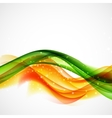 Abstract Green and Orange Wave on White Background vector image vector image