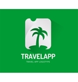 abstract travel palm logo template vector image