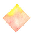 abstract yellow and pink color square watercolor vector image vector image