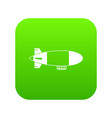 aerostat airship icon digital green vector image