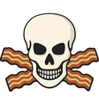 bacon skull vector image vector image