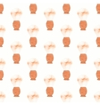 Barber brush Seamless watercolor pattern with old vector image vector image