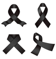 Black ribbons vector image
