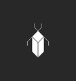 Bug black and white mockup logo security icon vector image vector image