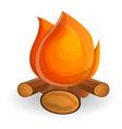burning campfire icon cartoon style vector image