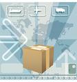 Cargo delivery vector image
