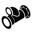 cellar pipe icon simple black style vector image vector image