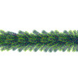 christmas borders from fir tree branches vector image vector image