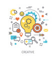 concept of creative vector image