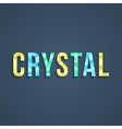 crystal lettering with shadow vector image