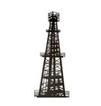 darck silhouette oil rig and pumps during vector image vector image