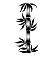 decorative silhouette bamboo vector image