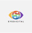 digital network eye logo icon template vector image