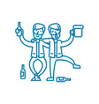 drinking with friends linear icon concept vector image