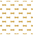 Dumbbell big geometric seamless pattern gold white vector image vector image