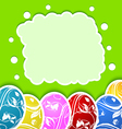 Easter card with set colorful ornate eggs vector image