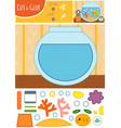 education paper game for children goldfish vector image vector image
