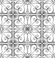 elegant black and white seamless pattern vector image vector image