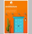 Elements of architecture front door background 10 vector image vector image