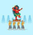 evil spirit statue parade hindu bali people vector image vector image