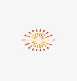 eye swirl spiral infinity logo creative vector image vector image