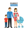 family people vector image vector image