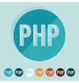 Flat design PHP vector image vector image