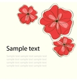 Floral document template vector | Price: 1 Credit (USD $1)