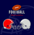 football logo end elements vector image