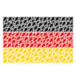 germany flag collage of oak leaf items vector image vector image