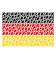 germany flag collage of oak leaf items vector image