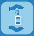 hand sanitizer symbol cleanser product blue vector image vector image