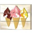 Ice cream board vector image vector image