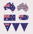 icons set of australia day with colorful vector image vector image