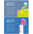 interactive reality gadget set vector image vector image