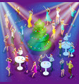 isometric celebration christmas 3d dancing vector image