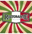 Italian restaurant vector image vector image