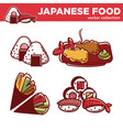 japanese food collection of tasty exotic vector image