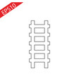 ladder icon isolated staircase and ladder icon vector image